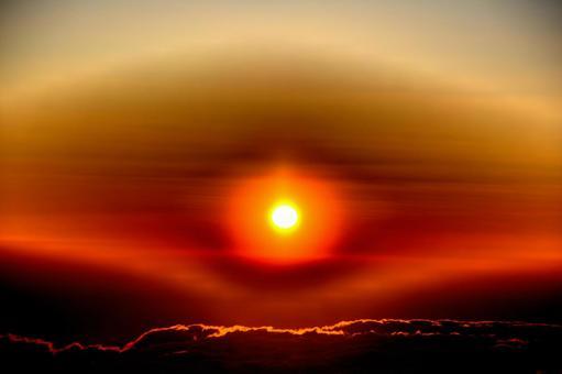 Morning glow from Mt. Fuji