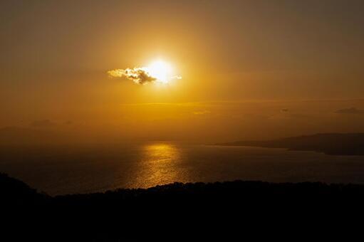 Sunset seen from Mt. Hakodate