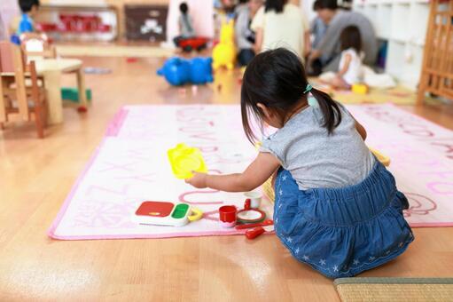 Children 1 playing in the nursery school