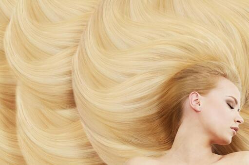 Beautiful blonde woman voice