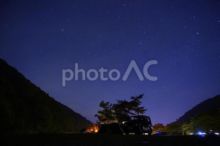 星空キャンプの写真