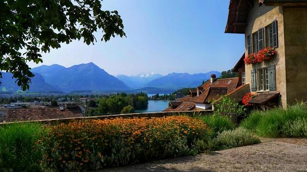 Swiss cityscape