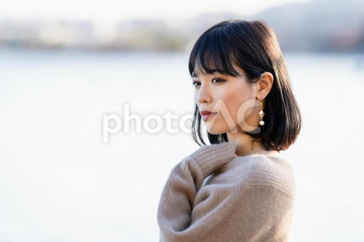 女性のポートレートの写真