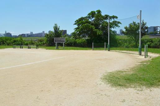 Baseball field at Arakawa Riverbed, Adachi-ku