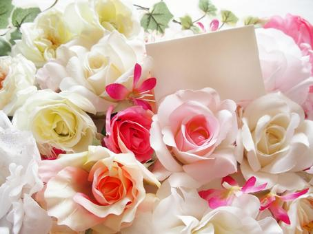Flowers and message cards