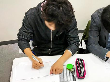 Students to concentrate and write