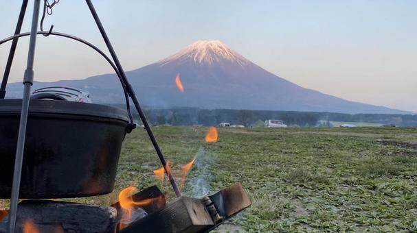Mt. Fuji camp dusk