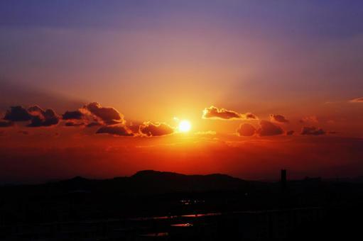 橙色的天空
