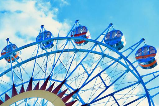 Ferris wheel story on sky image