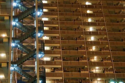 Night high-rise apartment 1