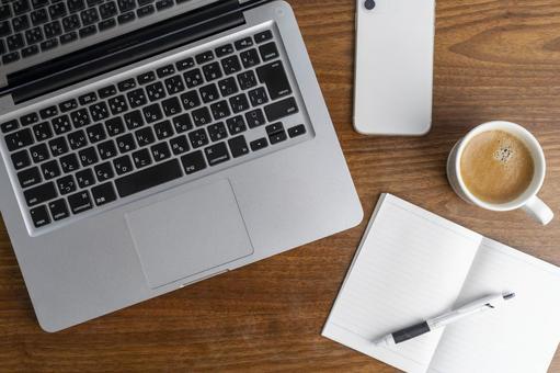Desk work pc notebook