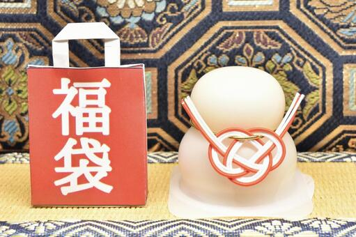 Lucky bag and Kagami mochi