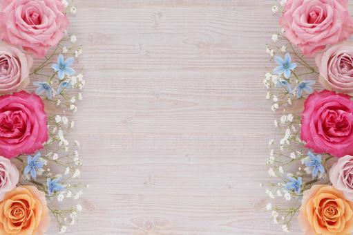 Rose flower frame