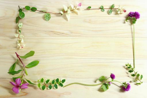 Healing grass flower texture background