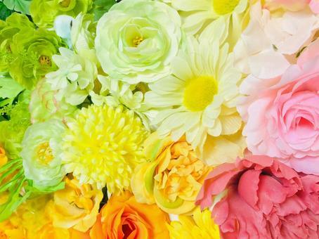 Pastel-like flowers