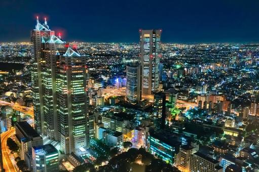 Night view of Shinjuku from Tokyo Metropolitan Government Observation Deck