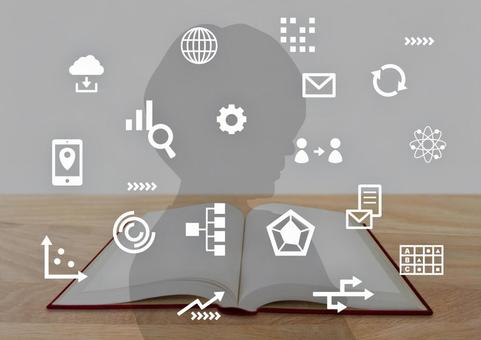Book and marketing digital icons