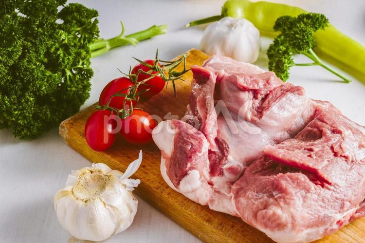 肉料理準備2の写真