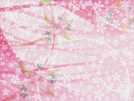 Lively cherry tree wallpaper background Material of New Year and spring!