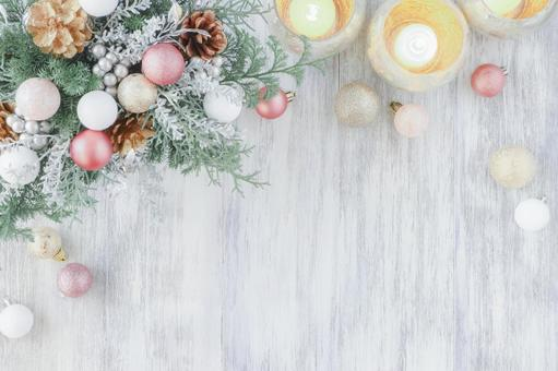 Christmas arrangement and candlelight
