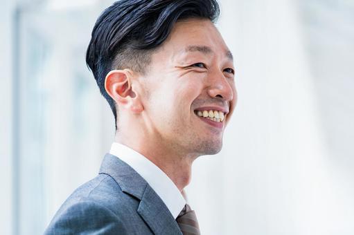 Smiley businessman