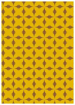 Geometric texture butterfly yellow