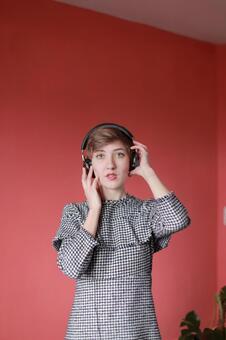 Foreigner model 1 enjoying music 1