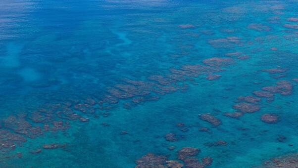 """The sea seen from Amami Oshima """"Miyakozaki"""" and """"Sasanto"""""""