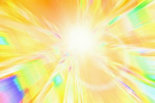 Golden shining light Warp