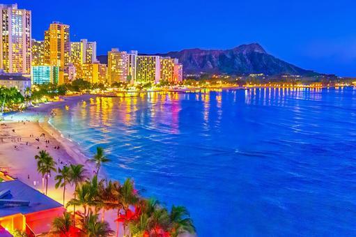 Waikiki Night View (Oahu)