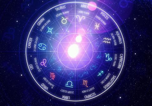 空間背景中的12個星座