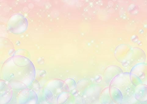 Background of sparkling and soap bubble