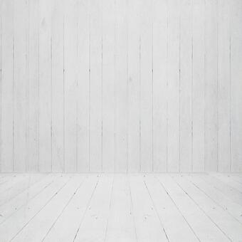 White wood floor and wall background image