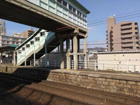 JR 미나미 후쿠시마 역 구름 다리 도호쿠 본선