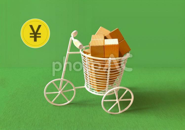 自転車で宅配 デリバリーサービス 配達のアルバイト  の写真
