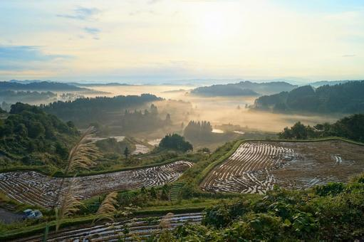 Hoshitoge Rice Terraces with a Sea of Clouds