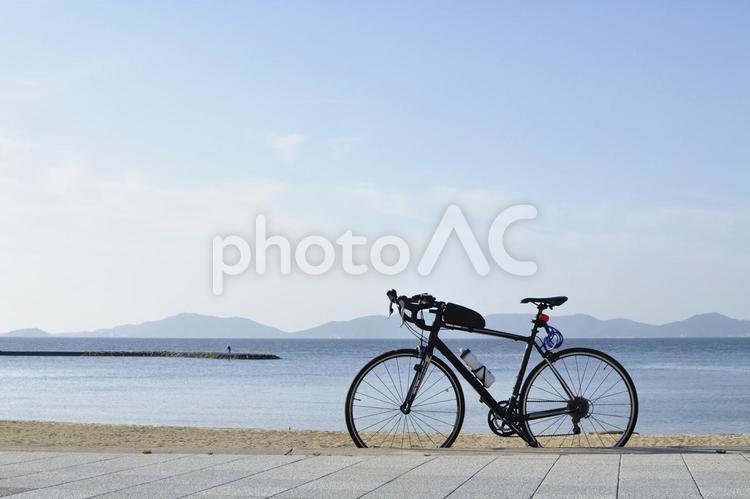 自転車 ロードバイク ツーリングの写真