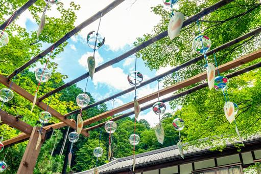 Summer sky and wind chimes