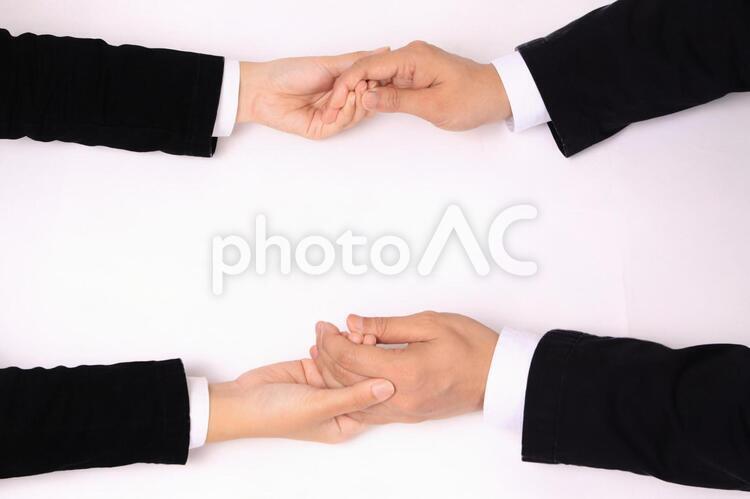 ビジネスハンドパーツ(手を握る)の写真