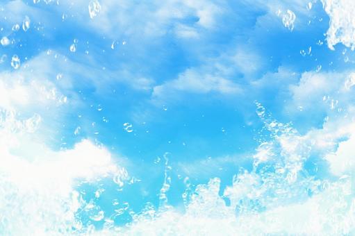 Underwater light glitter blue layer