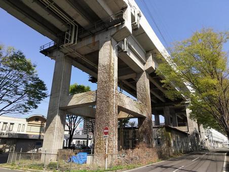 도호쿠 신칸센 고가 다리 남쪽 후쿠시마 후쿠시마시