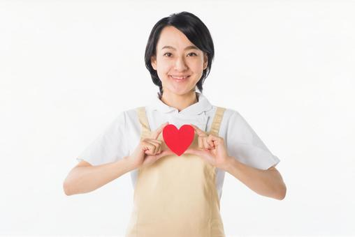 Female with heart 2