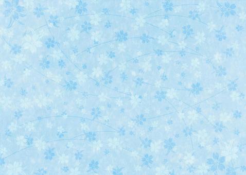 Cherry texture on Japanese paper _ light blue