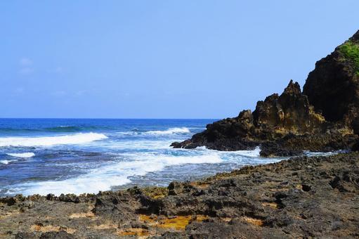 구메 지마의 바다