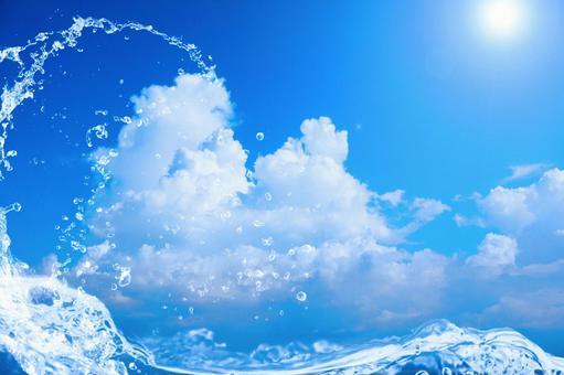 Summer waves   Sea splash free background image_horizontal position