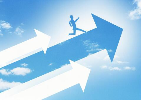 Business image of growth and leap