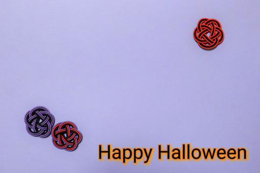 Frame with Mizuhiki work Halloween color Background color Purple With letters