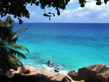 Seychelles, blue sea and sky, beach 7 ~ seychelles ~