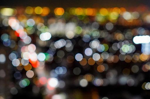 타워 홀 船堀에서의 야경 아라카와와 도쿄 도심