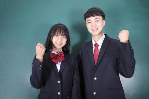 High school student posing